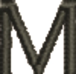 Monogram Letter M embroidery design