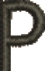 Monogram Letter P embroidery design
