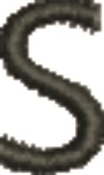 Monogram Letter S embroidery design