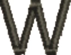 Monogram Letter W embroidery design