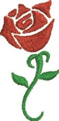 Stencil Rose embroidery design