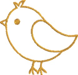 Cute Chick Outline embroidery design
