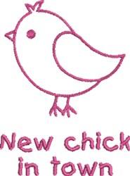 Cute Purple Chick embroidery design