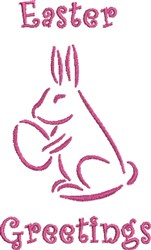 Easter Bunny Greetings embroidery design