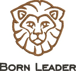 Born Leader embroidery design