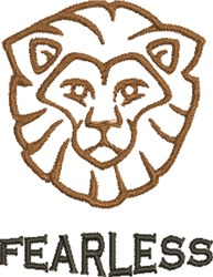 Fearless Lion Outline embroidery design