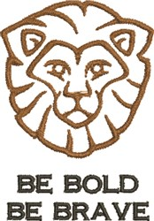 Be Bold & Brave embroidery design