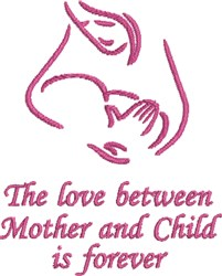 Mother & Child Love embroidery design