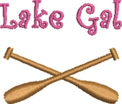 Lake Gal embroidery design