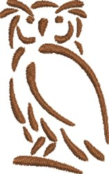 Wise Owl Outline embroidery design