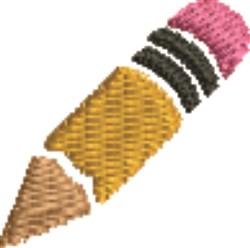 Pencil embroidery design