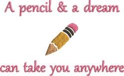 School Pencil embroidery design