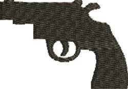Revolver Silhouette embroidery design