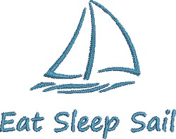 Small Sailboat Outline embroidery design