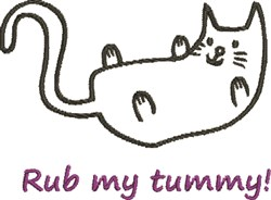 Rub My Tummy! embroidery design