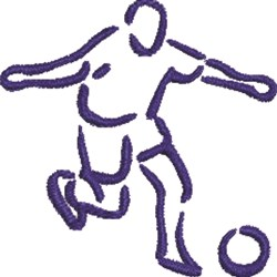 Soccer Player Outline embroidery design