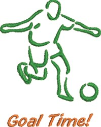 Goal Time! embroidery design