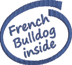 French Bulldog Inside embroidery design