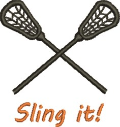 Sling It embroidery design