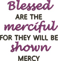 The Merciful embroidery design