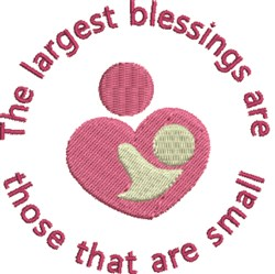 Largest Blessings embroidery design