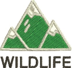 Wildlife embroidery design