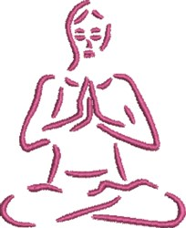 Yoga Outline embroidery design