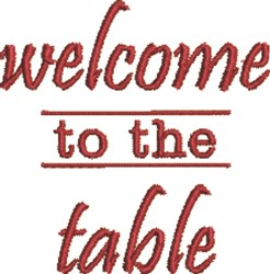 Welcome To The Table embroidery design