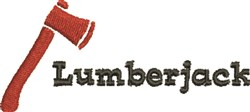 Lumberjack embroidery design