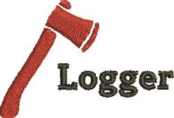 Logger embroidery design