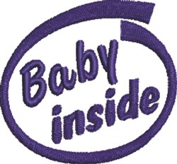 Baby Inside embroidery design