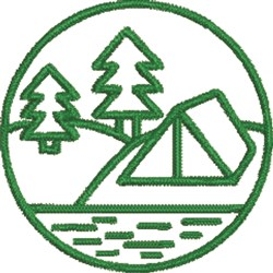 Campsite embroidery design