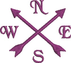 Crossed Arrows embroidery design