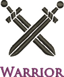 Warrior embroidery design