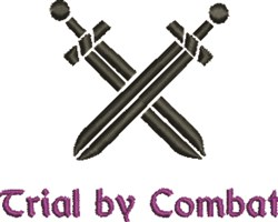 Trial by Combat embroidery design