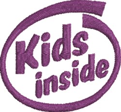 Kids Inside embroidery design