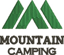 Mountain Camping embroidery design