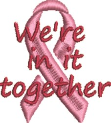 Were In It Together Survivor Ribbon embroidery design