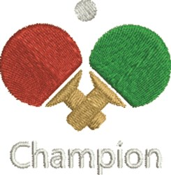 Champion embroidery design