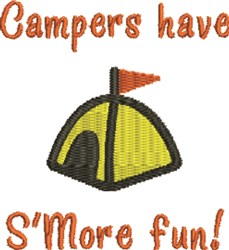 Campers Have SMore Fun embroidery design