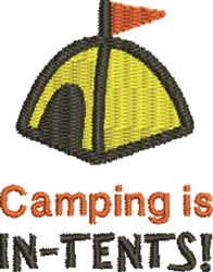 Camping Is In-Tents embroidery design