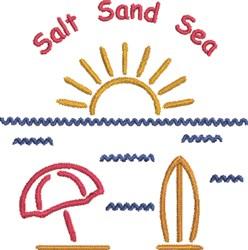 Salt, Sand, Sea embroidery design