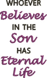 Faith & Eternal Life embroidery design