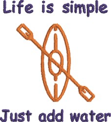 Simply Kayaking Life embroidery design