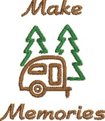 Small Camper Outline embroidery design