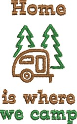 Camping Outline embroidery design