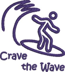 Crave The Wave embroidery design