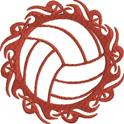 Tribal Volleyball embroidery design