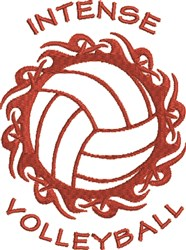 Intense Volleyball embroidery design