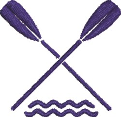 Crossed Oars 1 embroidery design